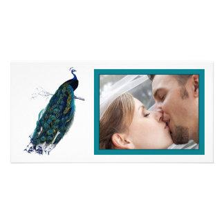 The Peacock Collection Wedding Photo Photo Card