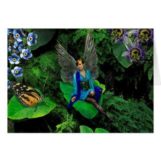 The Peacock Fairy, Blank Inside Greeting Card