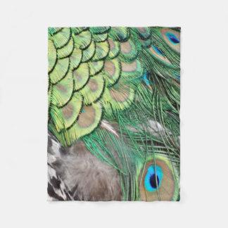 The Peacock Garden Fleece Blanket