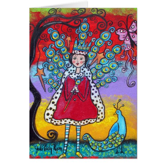 The Peacock Queen Happy Birthday Card