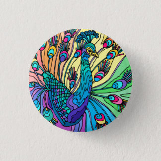 The Peacock Shows Its Feathers Button
