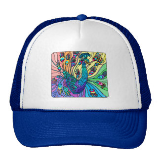 The Peacock Shows Its Feathers Trucker Hat