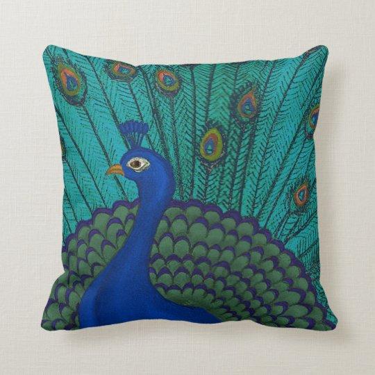 The Peacock Throw Pillow