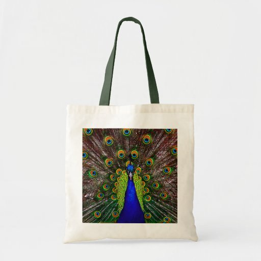 The Peacock Tote Bags