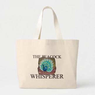 The Peacock Whisperer Jumbo Tote Bag