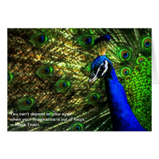 """""""The Peacock's Eyes"""" Twain Quote Card"""