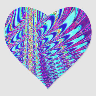 The Peacock's Wing Heart Stickers