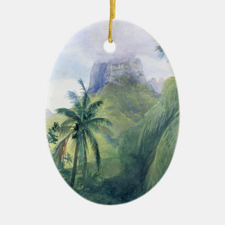 The Peak of Mauna Roa - John LaFarge Ceramic Ornament