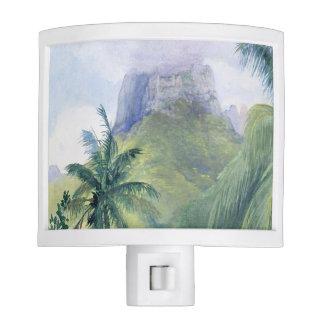 'The Peak of Mauna Roa' - John LaFarge Night Light