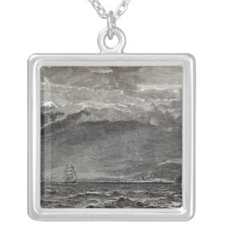 The Peak of Teneriffe, Sante Cruz Silver Plated Necklace
