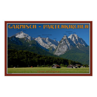 The Peaks Above Garmisch Poster