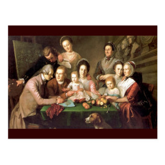 The Peale Family, by Charles Willson Peale Postcard