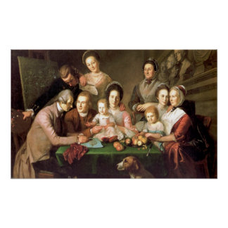 The Peale Family, by Charles Willson Peale Poster