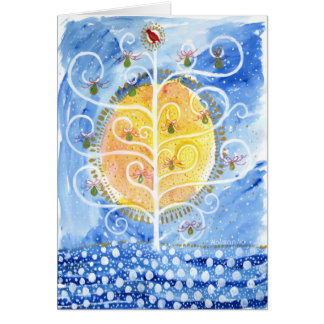 The Pear Tree & The Partridge Greeting Card