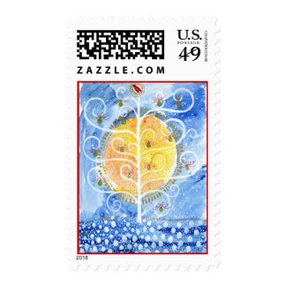 The Pear Tree & The Partridge Postage Stamps