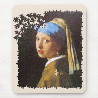 The Pearl Earring puzzle Mouse Pad