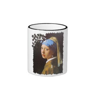 The Pearl Earring puzzle Ringer Coffee Mug