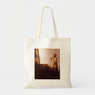 The Pearl Necklace by Johannes Vermeer Tote Bags