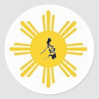 The Pearl of the Orient Round Sticker