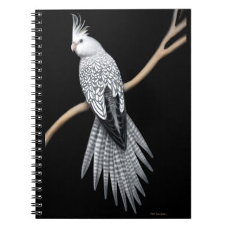 The Pearl Pied Cockatiel Parrot Notebook