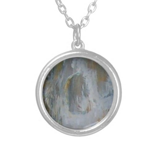 The Pearl Round Pendant Necklace