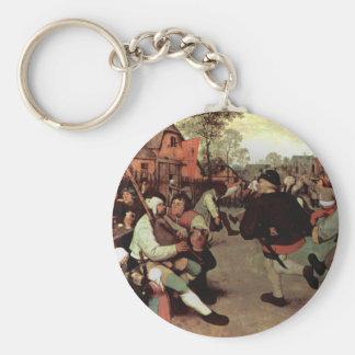 The Peasant Dance - 1568 Basic Round Button Keychain