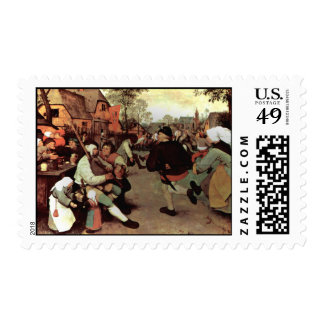 The Peasant Dance - 1568 Postage