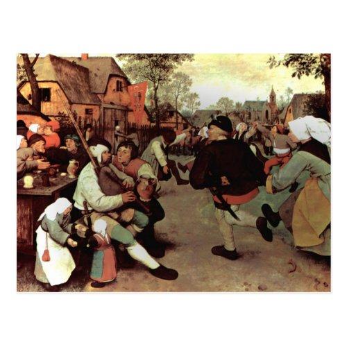 The Peasant Dance _ 1568 Postcard