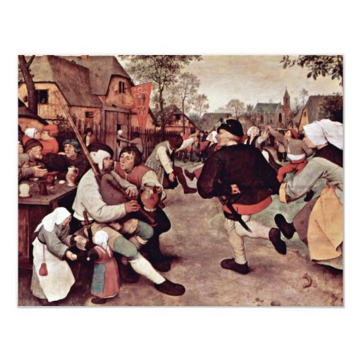 The Peasant Dance By 0 (Best Quality) 4.25x5.5 Paper Invitation Card