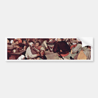The Peasant Dance By 0 (Best Quality) Bumper Stickers