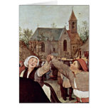 The Peasant Dance By Bruegel A. Pieter Greeting Cards