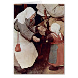 The Peasant Dance By Bruegel A. Pieter Greeting Card