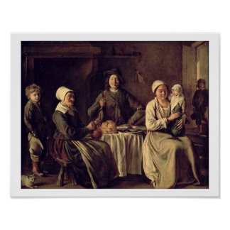The Peasant Family, 1642 (oil on canvas) Poster