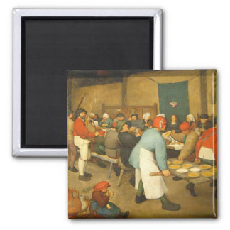 The Peasant Wedding - 1568 2 Inch Square Magnet