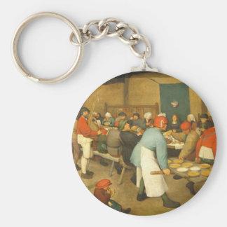 The Peasant Wedding - 1568 Basic Round Button Keychain