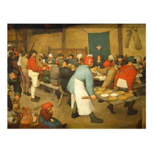 The Peasant Wedding _ 1568 Postcard