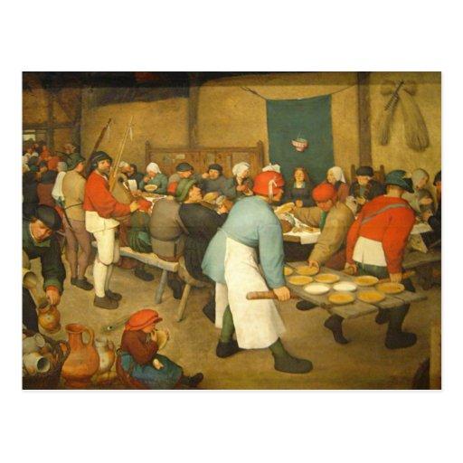 The Peasant Wedding - 1568 Postcard