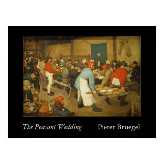 The Peasant Wedding - 1568 Poster