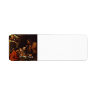 The Peasants and the Satyr by Jacob Jordaens Return Address Label