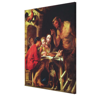 The Peasants and the Satyr Canvas Print