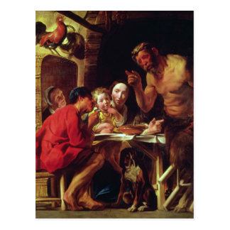 The Peasants and the Satyr Postcard