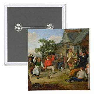 The Peasants' Dance, 1678 Pinback Button