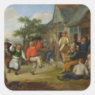 The Peasants' Dance, 1678 Square Sticker