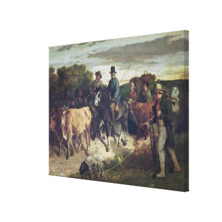 The Peasants of Flagey Returning from the Fair Canvas Print