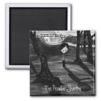 'The Peculiar Shadow' 2 Inch Square Magnet
