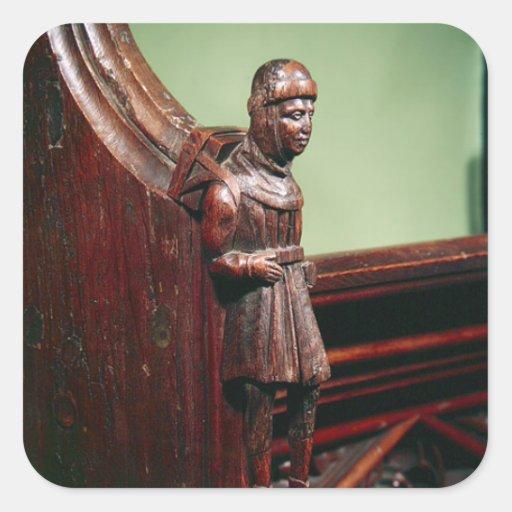 The Peddler of Swaffham, c.1462 Square Sticker