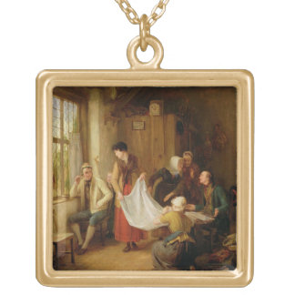 The Pedlar, 1814 (oil on panel) Gold Plated Necklace