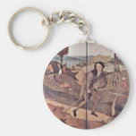 The Pedlar. By Hieronymus Bosch (Best Quality) Keychain