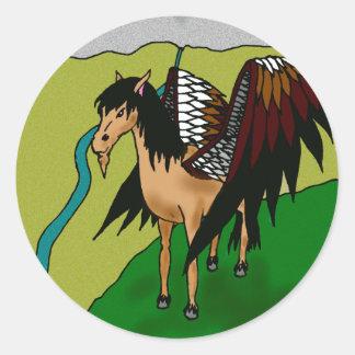 The Pegasus Classic Round Sticker