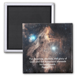 The Pelican Nebula with Psalm 19:1 Magnet